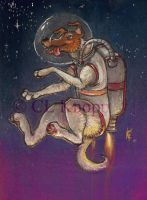 space Dog by kiki-doodle