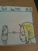 Ed hates milk. by Goldfish-24-7