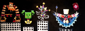 SPM Villains Perler Shrine by Artistboy360
