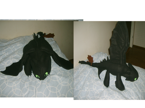 Toothless plush 2 by Golden-nightdragon