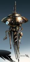 Old Probe Droid by MeckanicalMind
