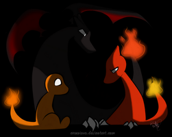 Charmander Family -Redo- by Arsenious