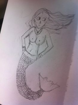 sassy mermaid by queenofcatsandcoffee