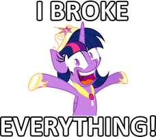 Twilicorn Broke EVERYTHING! by Blackhole12