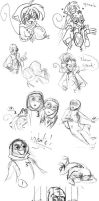 9 Sketch Dump Part Three by The9Club