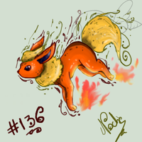 Flareon Kakidex by UmbreoNoctie