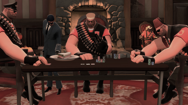 Poker Night with Heavy Nuke by MennyRus