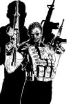 punisher black and white by alexeuses