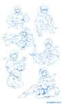 Growth Period - Characters Extras. by Atariboy2600