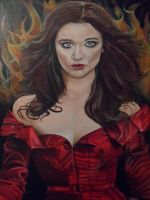 Claimed By The Dark ~ Traditional ~ Acrylic Paint by Launadoon