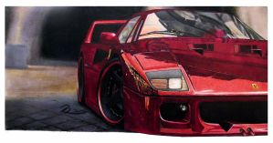 Ferrari F40 by LOLLIPOP007