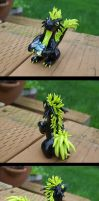 Black and Green Dragon by ClayCreation