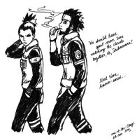 Asuma and Shikamaru by one-of-the-Clayr