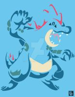 Feraligatr (Tribal) by calfrills