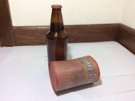 Beer and Bent Tin Can by Dough-Bones1
