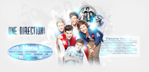 Header PSD OneDirection by clubbloggeras