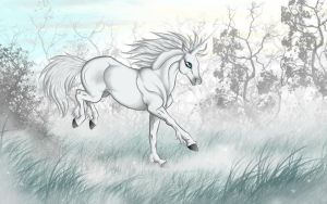 White unicorn by Whodovoodoo
