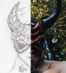 Greater Demon Mask: Concept to Creation by Epic-Leather