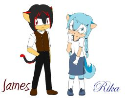 James and Rika by SahKeyLuffsYew83