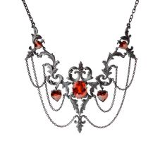 large silver necklace2 by w-l-g