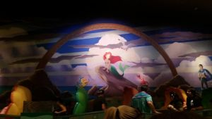 the sea shell carts in the little mermaid ride by PrincessCarol