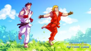 Ryu and Ken HAPPY FIGHTERS by Tohad