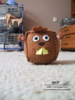 Jim the Beaver - felt cube by nezstorm