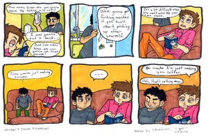 Domestic Confrontation Between Jonah and Michael by Strabius