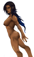 just some female anatomy and painting practice by Pharos-Chan