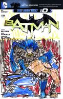 batman 0 sketch variant bane vs batman by joselrodriguesart
