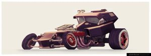 The Cubic Hot Rod by UrbanMelon