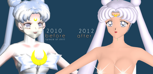 Queen Serenity 2012 WIP by chatterHEAD