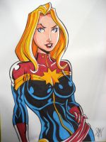 Captain Marvel Carol Danvers by calslayton