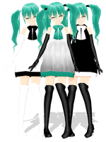 .: DL Series :. Green Apple Miku Hatsune [DOWN] by Duekko
