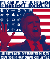 Romney the Welfare Bum by Party9999999