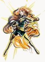 Convention Sketch: Jean Grey by timberking