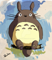 Totoro by Kinaria