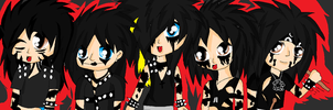 Black Veil Brides Chibi by XxsilvixX