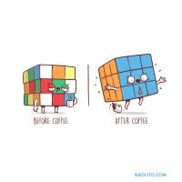 Before/after Coffee by Naolito