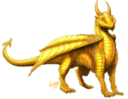 Ryuu The Golden Dragon by Gingy1380