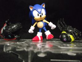 Sonic The Hedgehog defeats EggMans bots everytime! by forever-at-peace