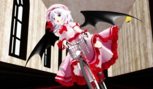 Remilia & The Mini Bike Of Awesome!! by GingerrattennaXD