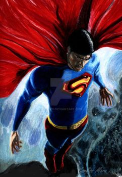 Superman Return-Brandon Routh by CezLeo