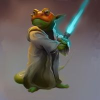 Froggy Yoda by WaitingForEmma