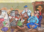Commission - Junkyard by Granitoons