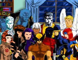 X-Men Group In Color by Ari-Spike-Nadelman
