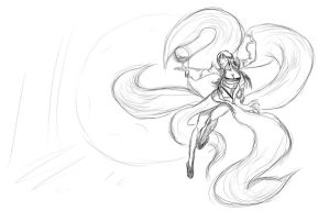 Kumiho -now Ahri- The Nine-Tailed Fox by Endette