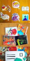 stickers + postcards for sale by muura