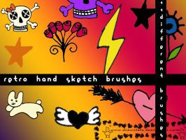 retro sketch brushes by drawrbabe