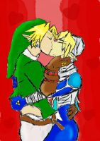 Link and Sheik by AapjeBerry